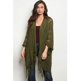 Forest Witch Dark Green Sweater Shawl
