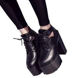 Gothic Black Women's Platform High Heel Boots