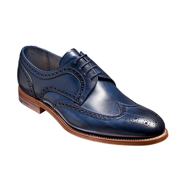 1b4b51d0f862f Handmade Men Derby Navy Blue Shoes,Men Wingtip Brogue Dress Leather Shoes