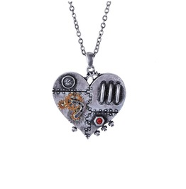 Me11130 Myth Steampunk Clockwork Heart Necklace