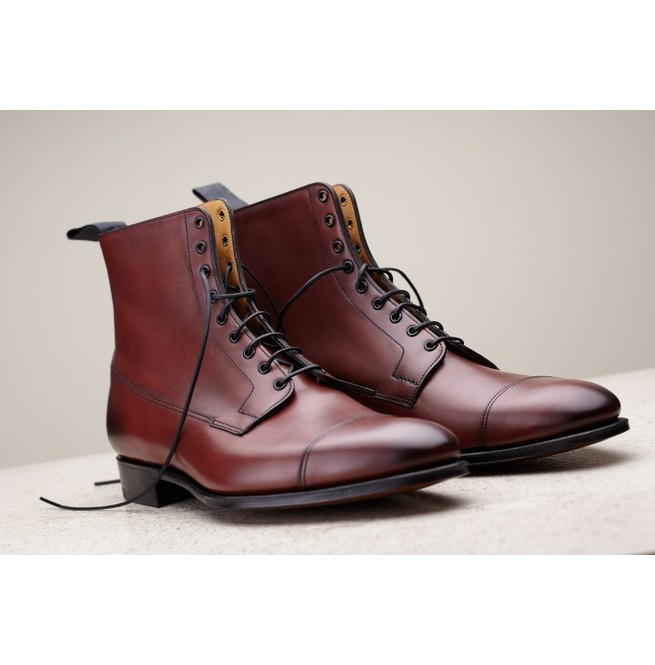 70c1776b9ed8c Handmade Men Brown Leather Boots, Dress Boots For , Ankle High Boots