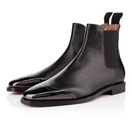 Handmade Men Black Boots, Patent Toe Boots For Men, Men Leather Boot