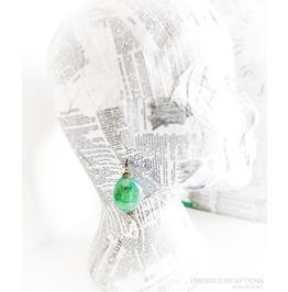 Victorian Jade Crystal Drop Earrings