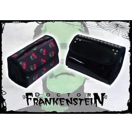 Dr. Frankenstein Cherry Or Black Patent Vegan Leather Makeup Bag Drfrk26