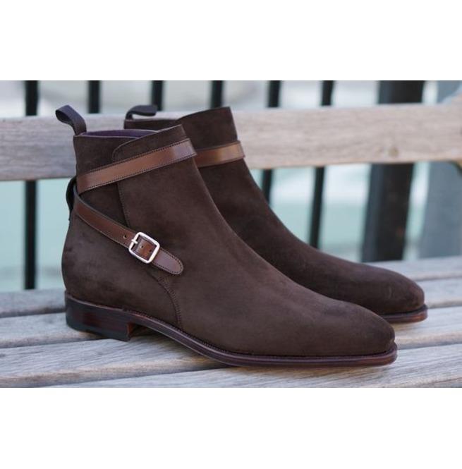 bcf4b32b932 Handmade Men Jodhpur Boots, Brown Suede Leather Boot | RebelsMarket