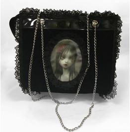 Dr. Frankenstein Black Velvet Mark Ryden's Rose Tears Hand Bag Drfrk41