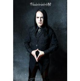 Dr. Frankenstein Gothic Black Brocade Bat Shaped Baroque Shirt Drfrk44
