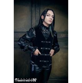 Dr. Frankenstein Black Velvet Victorian Alucard Vamp Gothic Vest Drfrk55