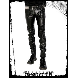 Dr. Frankenstein Black Gothic Vegan Leather Boot Cut Pants Drfrk89