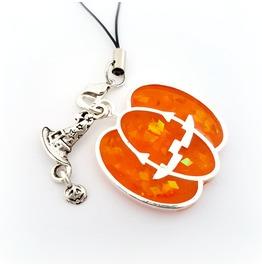 Pumpkin Phone Charm, Halloween Bag Charm, Spooky Wallet Charm Planner Charm