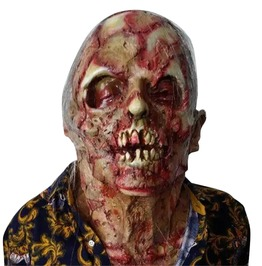 Halloween Latex Bloody Scary Adult Full Face Zombie Mask