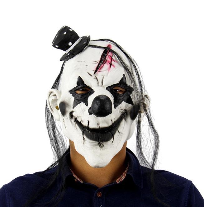 Halloween Latex Devil Clown Burn Face Full Face Mask