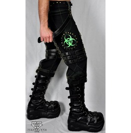 Cryoflesh Biohazard Decay Gothic Industrial Rivethead 3/4 Shorts