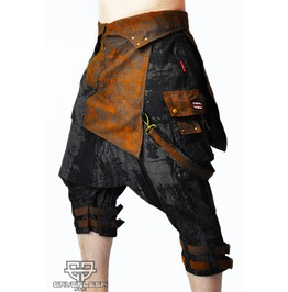 Steampunk Sandraider Sarouel Raver Festival Gothic 3/4 Shorts
