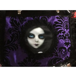 Dr. Frankenstein Japan Doll Cameo Purple Brocade Hand Bag Drfrk31