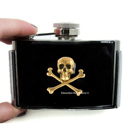 Skull And Crossbones Flask Belt Buckle Gothic Victorian Inspired