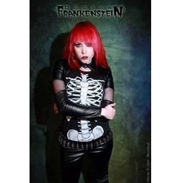 Dr. Frankenstein See Through Mesh & Vegan Leather Bolero Jacket Drfrk96
