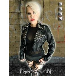 Dr. Frankenstein Punk Rock Vegan Studded Bolero Biker Jacket Drfrk104