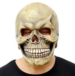 Halloween Realistic Latex Scary Skull Full Head Mask