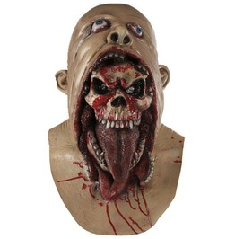 Halloween Latex Full Head Mask Burp Charlie Scary Skull Devil Men