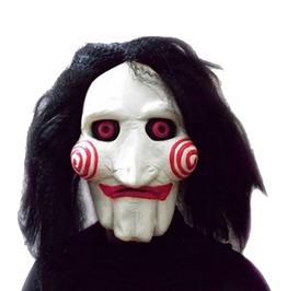 Halloween Movie Saw Jigsaw Puppet Latex Mask
