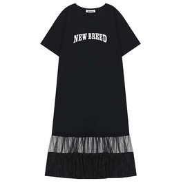 A Line Pullover New Breed Print Gothic Black Dress