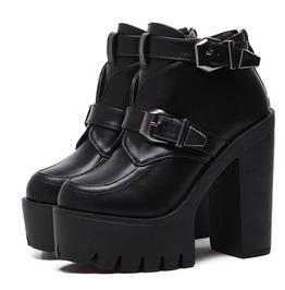 High Platform Buckle Straps Women Boots