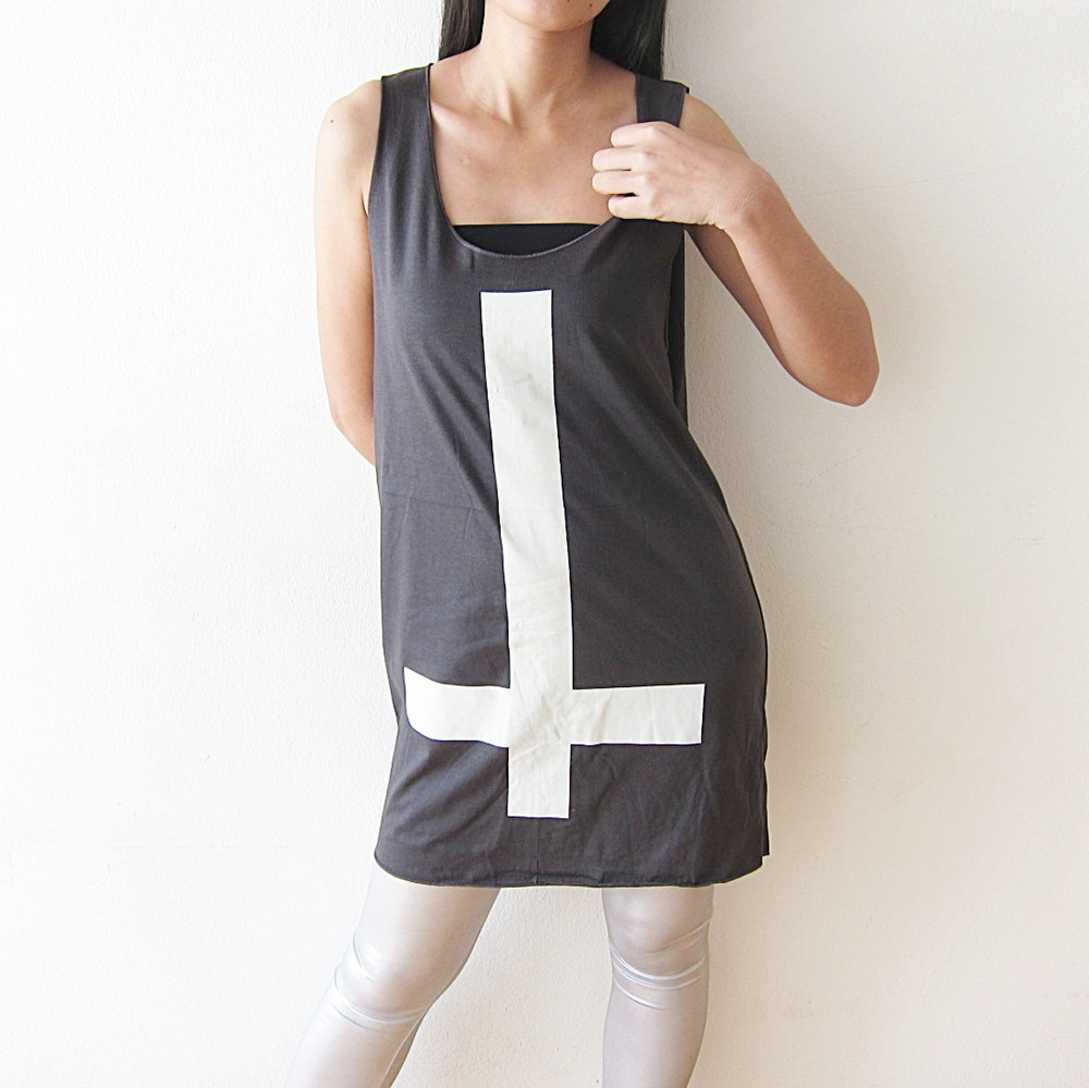inverted cross tunic