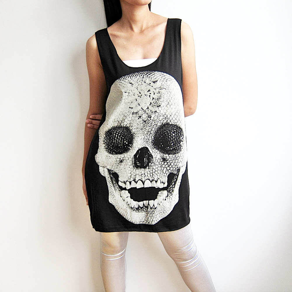 diamond skull dress