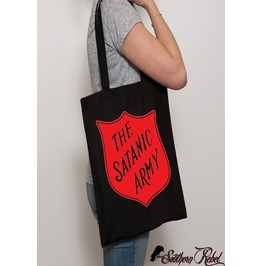 The Satanic Army Over The Shoulder Cotton Tote Bag