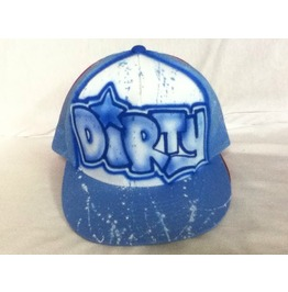 Airbrushed Trucker Dirty Hat