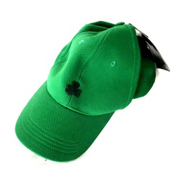 Awesome Good Quality Emerald Green Three Leaf Clover Baseball Cap