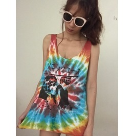 Japanese Joy Division Unknown Fashion Pop Tie Dye Unisex Vest Tank Top