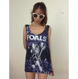 Alternative Indie Rock England Band Tie Dye Vest Tank Top