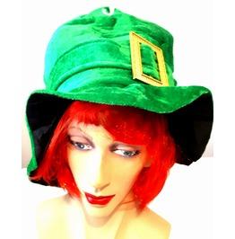 New Irish Vintage Fancy Dress Leprachaun Green With Buckle Leprachaun Hat