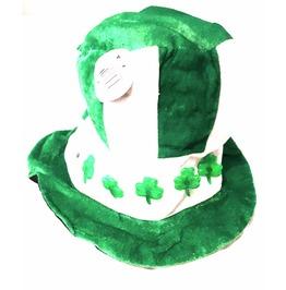 New Irish Vintage Fancy Dress Leprachaun Green White Hha Flashing Shamrocks