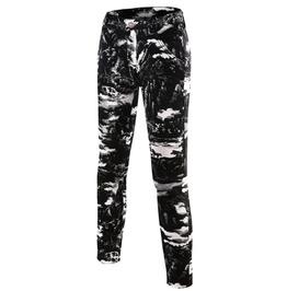 Black White Large Snowflakes Print Slim Stretch Skinny Denim Jeans Pants