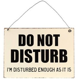 Rustic Hanging Do Not Disturb Sign