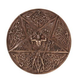 Me10725 Myth Horned God And Goddess Elemental Plaque