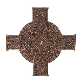 Me10733 Myth Elemental Celtic Cross Plaque