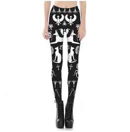 6086e1f1352f6 Dark Forest Sphynx Harajuku Goth Print Design Cat Womens Leggings