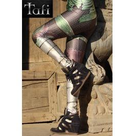 Tafi Elven Fantasy Armor Leggings Original Metal Print Costume Yoga Pants