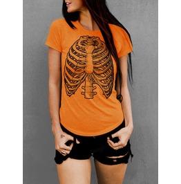 Skeleton Bones, Halloween Shirt, Rib Cage, Womens T Shirt, Boyfriend Fit