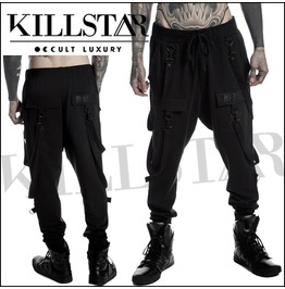 Killstar Black Harem Trousers Masterless Sweatpants Goth Ks18