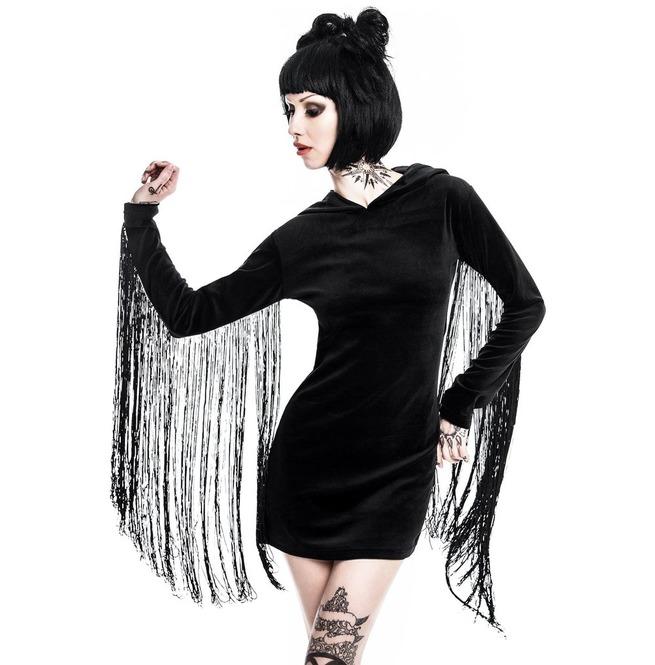 Killstar Lone Wolf Fringe Dress Goth Witch Occult Symbolism Wicca Ks21