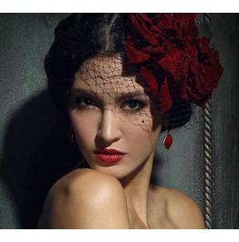 Veil Rose Goth Victorian Burlesque Womens Headdress Accessories