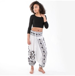 Wakapu Trousers One Size Vihayas Yoga Aladin Harem Elephant Baggy Pants