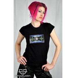 Cryoflesh Cryofiend Pulsewave Flashing Rave Led Shirt Fem