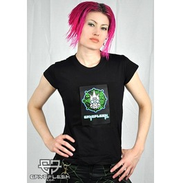 Cryoflesh Circuitry Flashing Rave Led Shirt Fem