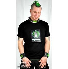 Cryoflesh Circuitry Flashing Led Raver Shirt Male